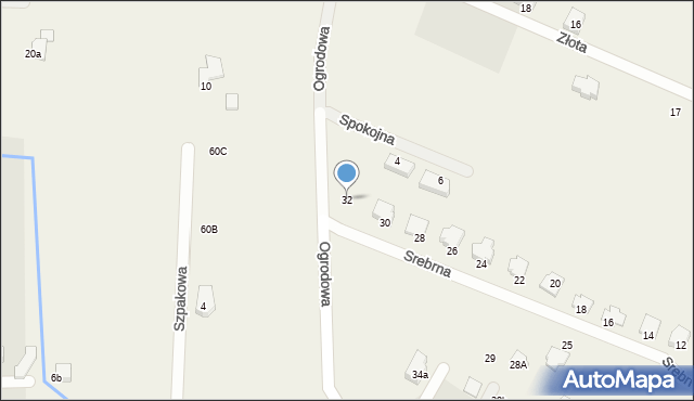 Wacyn, Srebrna, 32, mapa Wacyn