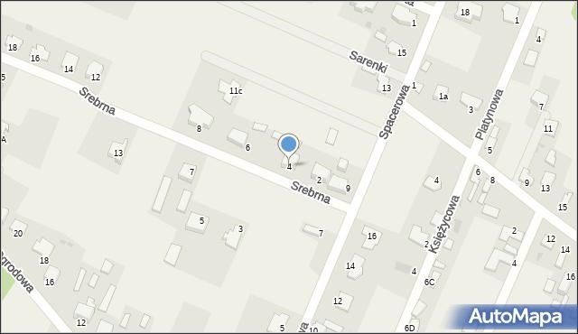 Wacyn, Srebrna, 4, mapa Wacyn
