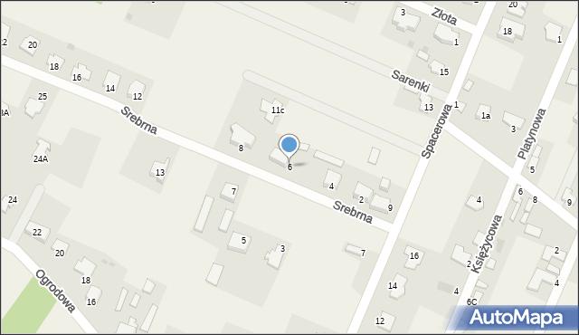 Wacyn, Srebrna, 6, mapa Wacyn