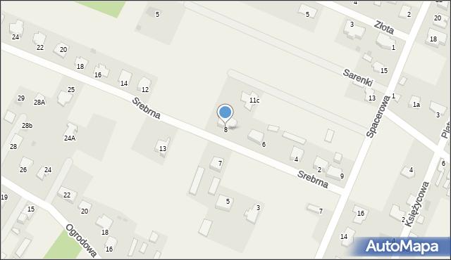 Wacyn, Srebrna, 8, mapa Wacyn