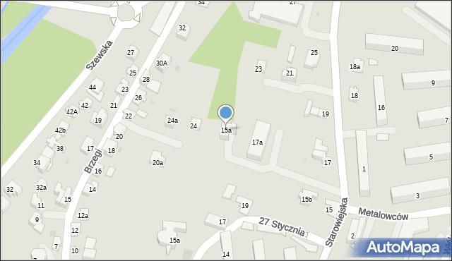 Andrychów, Starowiejska, 15a, mapa Andrychów
