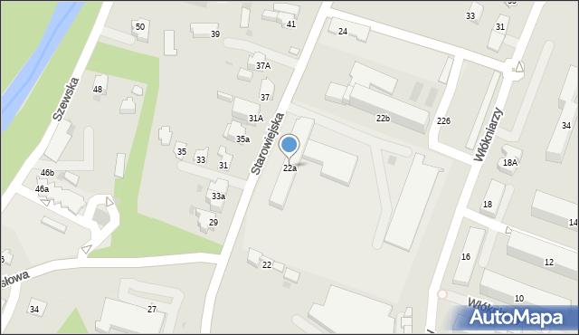 Andrychów, Starowiejska, 22a, mapa Andrychów