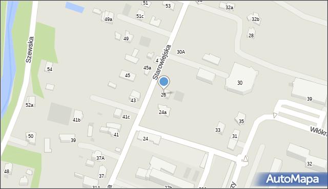 Andrychów, Starowiejska, 26, mapa Andrychów