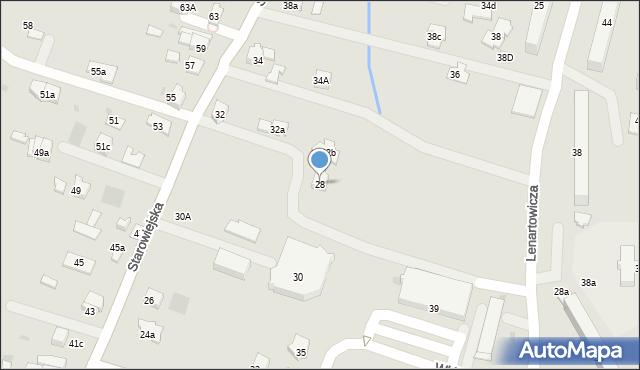 Andrychów, Starowiejska, 28, mapa Andrychów