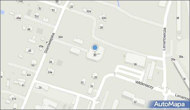 Andrychów, Starowiejska, 30, mapa Andrychów