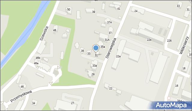 Andrychów, Starowiejska, 31, mapa Andrychów