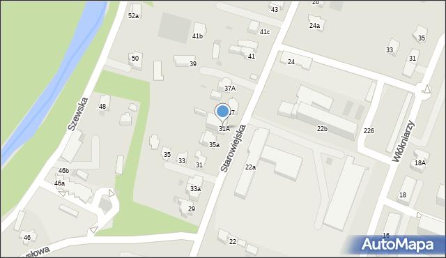 Andrychów, Starowiejska, 31A, mapa Andrychów
