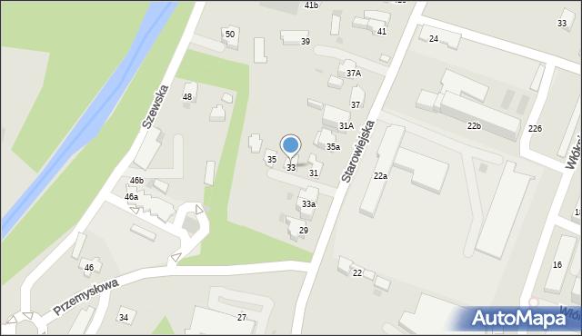 Andrychów, Starowiejska, 33, mapa Andrychów