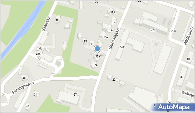 Andrychów, Starowiejska, 33a, mapa Andrychów