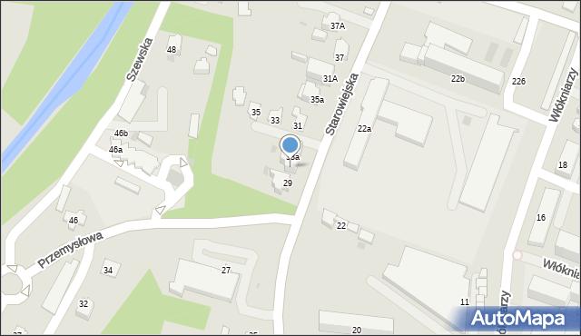 Andrychów, Starowiejska, 33b, mapa Andrychów
