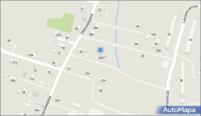 Andrychów, Starowiejska, 34A, mapa Andrychów