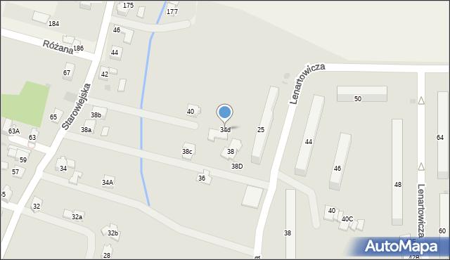 Andrychów, Starowiejska, 34d, mapa Andrychów