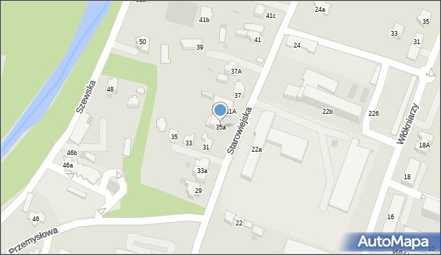 Andrychów, Starowiejska, 35a, mapa Andrychów