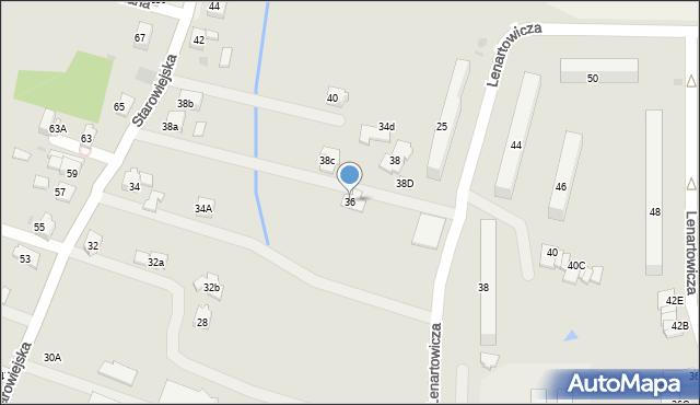 Andrychów, Starowiejska, 36, mapa Andrychów