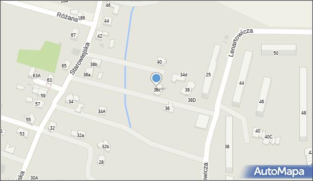 Andrychów, Starowiejska, 38c, mapa Andrychów