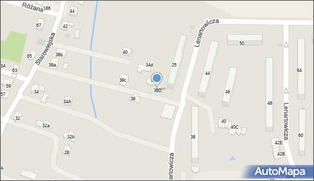 Andrychów, Starowiejska, 38D, mapa Andrychów