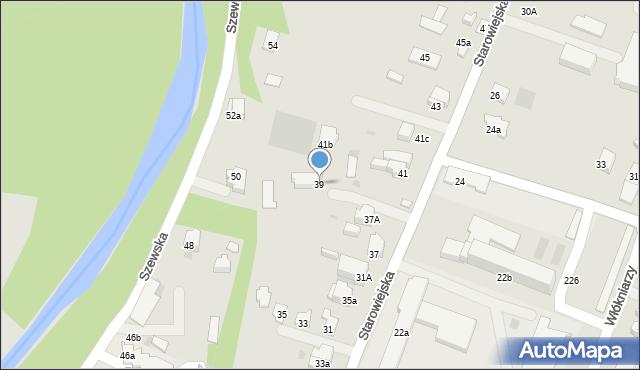 Andrychów, Starowiejska, 39, mapa Andrychów