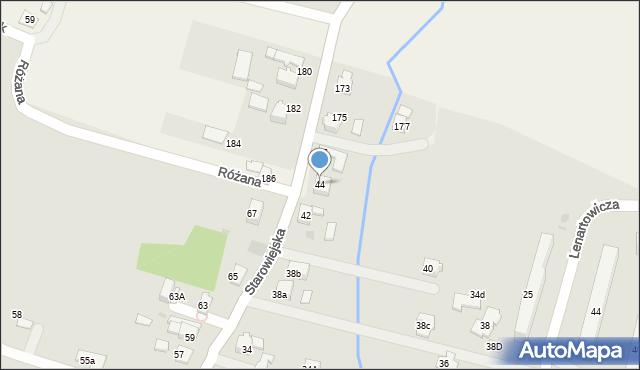 Andrychów, Starowiejska, 44, mapa Andrychów