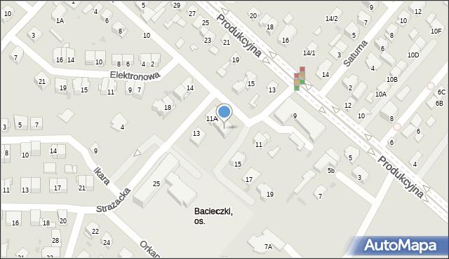 Białystok, Strażacka, 11C, mapa Białegostoku
