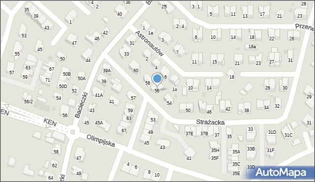 Białystok, Strażacka, 56, mapa Białegostoku