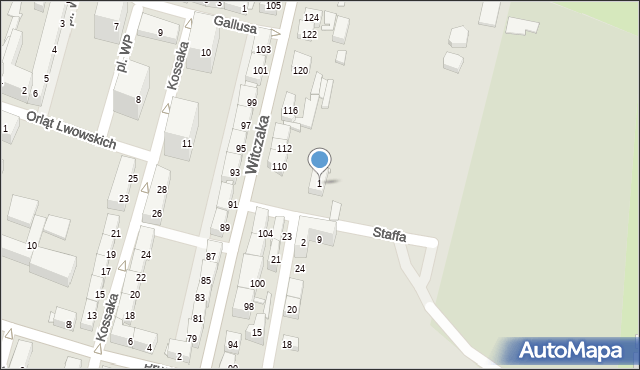 Bytom, Staffa Leopolda, 1/5, mapa Bytomia