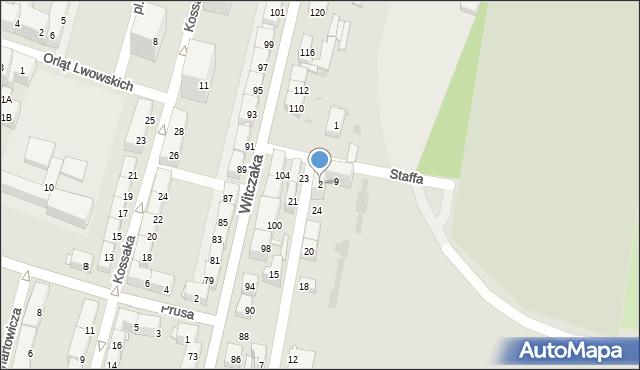 Bytom, Staffa Leopolda, 2, mapa Bytomia