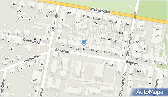 Bytom, Stefana Batorego, 30, mapa Bytomia