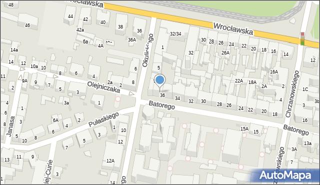 Bytom, Stefana Batorego, 36a, mapa Bytomia