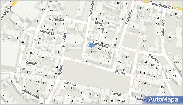Bytom, Strażacka, 8, mapa Bytomia