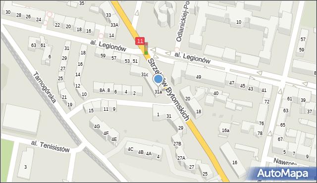 Bytom, Strzelców Bytomskich, 31a, mapa Bytomia