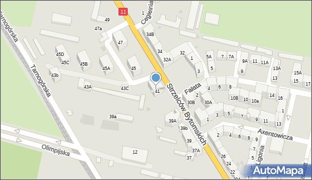 Bytom, Strzelców Bytomskich, 43, mapa Bytomia