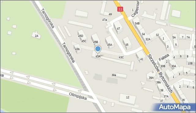 Bytom, Strzelców Bytomskich, 43A, mapa Bytomia