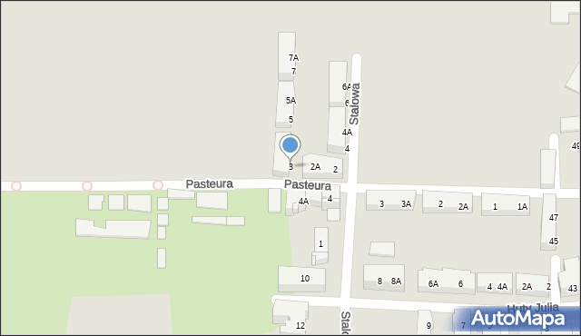 Bytom, Stalowa, 3, mapa Bytomia
