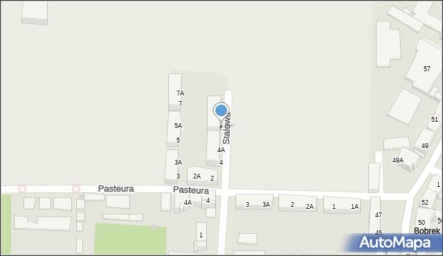 Bytom, Stalowa, 6, mapa Bytomia