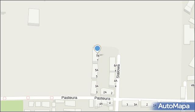 Bytom, Stalowa, 7A, mapa Bytomia