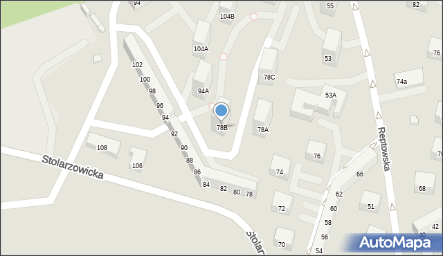 Bytom, Stolarzowicka, 78B, mapa Bytomia