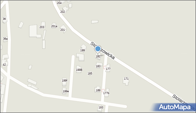 Bytom, Stolarzowicka, 181, mapa Bytomia