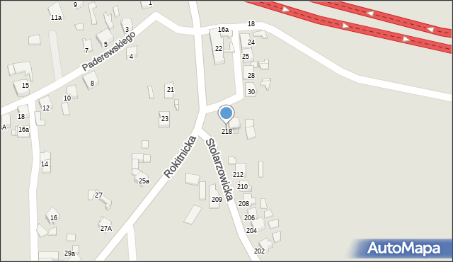 Bytom, Stolarzowicka, 218, mapa Bytomia