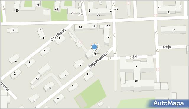 Chełm, Stephensona George'a, 11, mapa Chełma