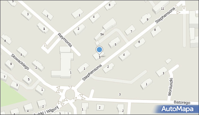 Chełm, Stephensona George'a, 3, mapa Chełma