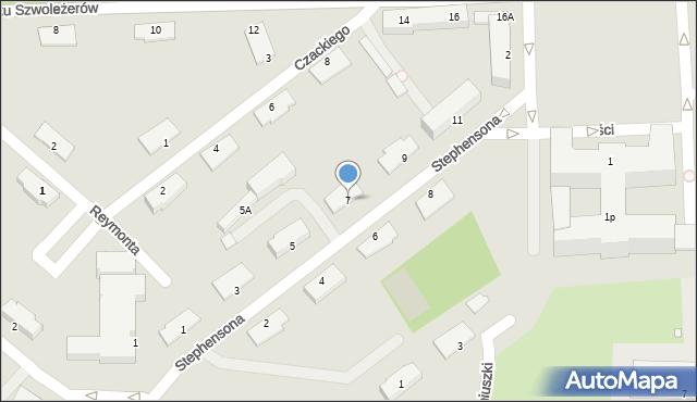 Chełm, Stephensona George'a, 7, mapa Chełma