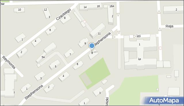 Chełm, Stephensona George'a, 8, mapa Chełma