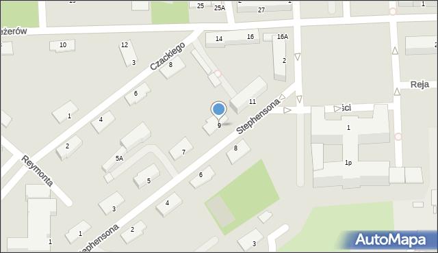 Chełm, Stephensona George'a, 9, mapa Chełma
