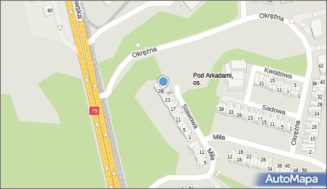Chorzów, Stawowa, 27, mapa Chorzów