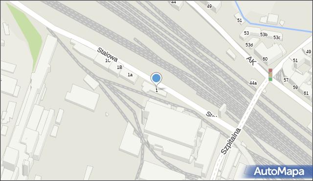 Chorzów, Stalowa, 1, mapa Chorzów
