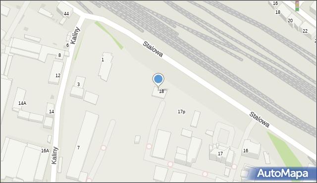Chorzów, Stalowa, 19, mapa Chorzów