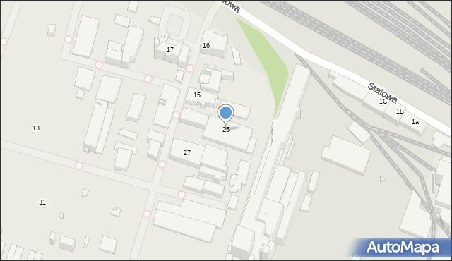 Chorzów, Stalowa, 25, mapa Chorzów