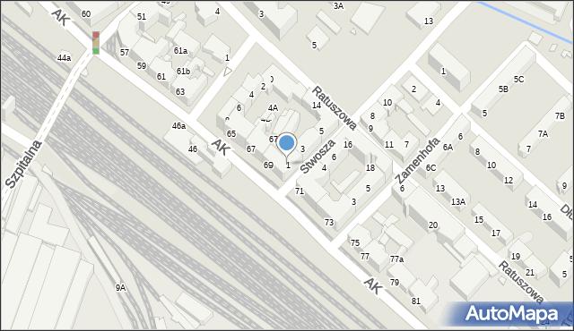 Chorzów, Stwosza Wita, 1, mapa Chorzów