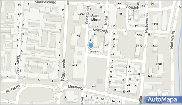 Częstochowa, Stary Rynek, 11, mapa Częstochowy