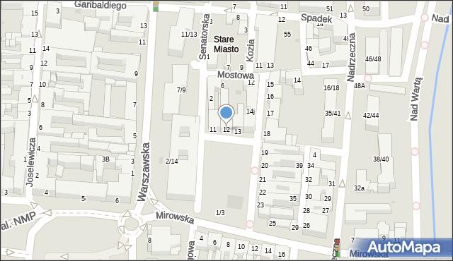 Częstochowa, Stary Rynek, 12, mapa Częstochowy